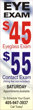 $45 Eye Exam-947EYES-Oklahoma